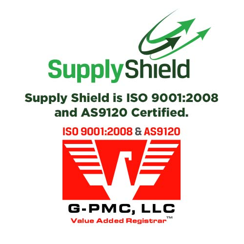 Supply Shield is Now ISO 9001:2008 & AS 9120 Certified